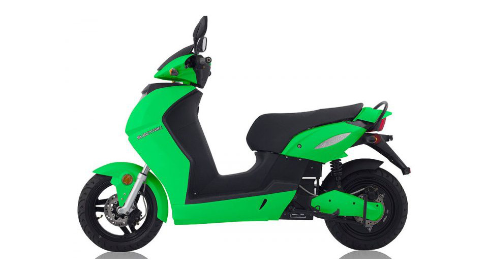 Vectrix VX-2 Scooter Elétrica Verde Vista Lateral