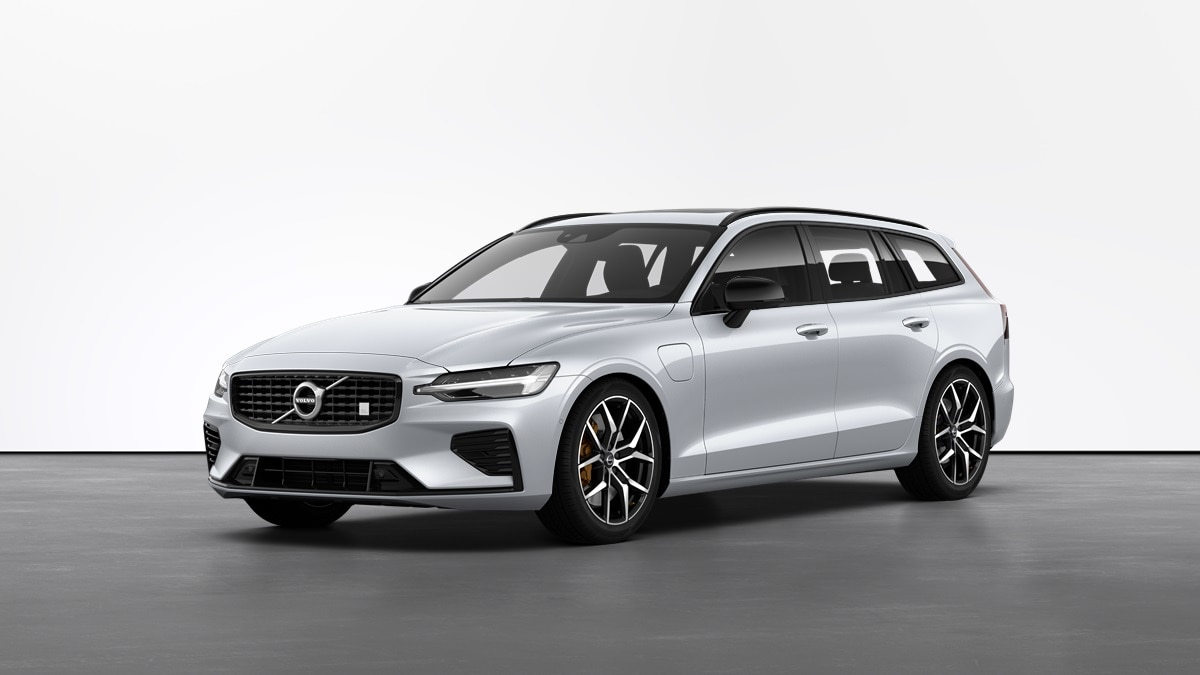 Volvo V60 Recharge Polestar Engineered Carrinha Híbrida Plug-in Branca Vista Exterior